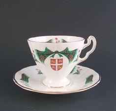 Royal Adderley Newfoundland Tartan Tea Cup & Saucer Newfoundland Canada, Newfoundland And Labrador, Cup And Saucer Set, Tea Cup Saucer, Man On The Moon, Island Tour, My Heritage, Canada Travel, Cookie Jars