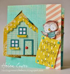 The Dining Room Drawers: New Purple Onion Design Stamps & Pop It Ups House Pivot Card