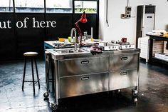 freistehende Küchen aus Edelstahl   Ideen rund ums Haus   Pinterest ...