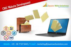 Get CMS(Content Management System) for your website : Wordpress website development, Joomla website development, Magento website development etc., http://www.jayamwebsolutions.com/content-management-systems-website-designing-chennai.php