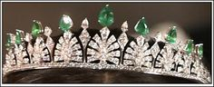 royalforums: Princess Sofia of Sweden's new iamond and emerald tiara in palmette/honeysuckle motifs, a gift from King Carl Gustaf and Queen Silvia to the bride