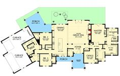 Craftsman House Plan with Flex Bonus Space - 69631AM | 1st Floor Master Suite, Bonus Room, Butler Walk-in Pantry, CAD Available, Craftsman, Den-Office-Library-Study, PDF, Ranch, Split Bedrooms | Architectural Designs