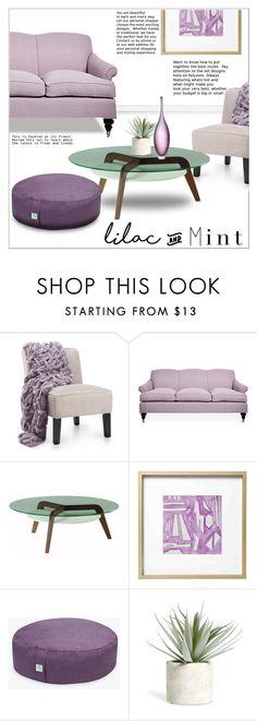 """Color Challenge: Lilac & Mint"" by ceci-alva on Polyvore featuring interior, interiors, interior design, Zuhause, home decor, interior decorating, Kim Salmela, Emporium Home und Allstate Floral"