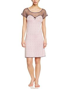 Nuit Secrète - Af.Fusain.Li.It, Camicia da notte da donna, rosa(pink - rose (rose clair/anthracite)), taglia produttore: 48 Nuit Secrète http://ebay.to/1ME7pvn