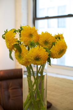 "Teddy Bear sunflowers are one of our favorites! The fresh but subtle scent definitely says ""Summertime!"" Sponsored."