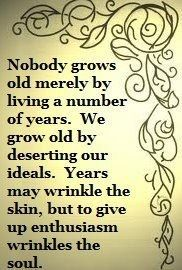 Growing old is something humans define.