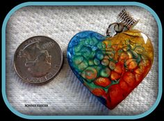 Magic Heart Pendant Number 2 by BleeKreations on Etsy