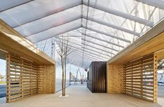 A Scaffolding System for a Temporary Facility,© José Hevia