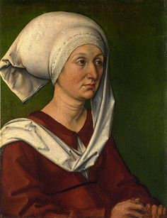 Albrecht Dürer ( German painter, 1471 – 1528) - Portrait of Barbara Dürer, 1490