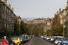 Lived here - Spottiswoode Street and the Castle, Edinburgh (by Steven Hill)