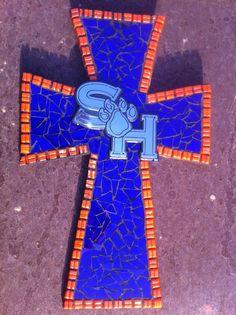 Sam Houston State Mosaic Cross Medium by katherineyork on Etsy, $47.00