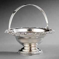 Edward Lownes Coin Silver Cake Basket