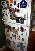 There are a lot of ways a couple can express themselves inside their place. Over at Club Broad St. (as we like to call our apartment) we do so on our fridge mostly. I think you can tell a lot about a person or a couple from what they put on their refrigerator door. (Disclaimer: There is nothing scientific about what I'm about to say, but I bet you'll find some truth to it!) For instance: If there's nothing on the front of the fridge, they're probably totally Type A, organize...