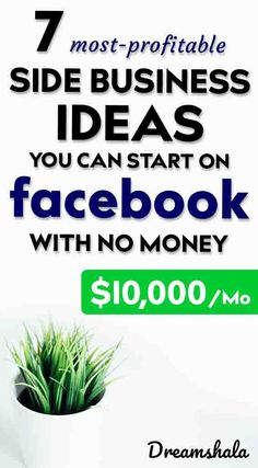 7 most-profitable side business ide Take Money, Ways To Earn Money, Earn Money From Home, Make Money Fast, Earn Money Online, Make Money Blogging, Online Jobs, Own Business Ideas, Start A Business From Home