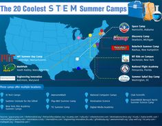 STEM education doesn't have to end just because the school year is over. Kids from grade school to high school can embrace their love of all things science and technology through a wide range of summer camps located all over the United States.