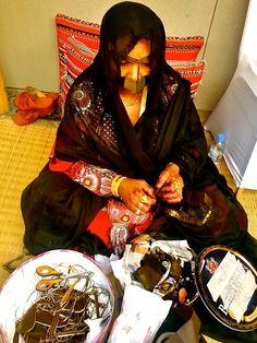 000 Bedouin women cooking, Shindaga quarter, Dubai Bedouins
