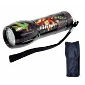 Camo Flashlight custom imprinted with logo