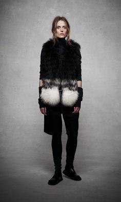 ashley B Ombré Fur Vest