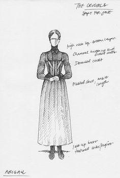 Costume Design. Abigail. The Crucible.