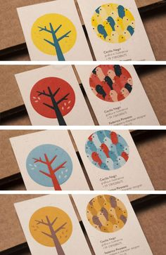 AEBLE Business Cards by Cecilia Negri, via Behance: