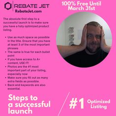 🤓How to launch simply & effectively - DAY 1 - Listing Optimization. Get your free RJ seller account until March 31st!