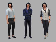 Netz-à-porter – outfits ready to wear for your sims (no CC required) - Page 9 Casas The Sims 4, Sims 4 Characters, Sims Four, Sims 4 Clothing, Clothing Ideas, Sims Cc, Vs Pink, Ready To Wear, Mens Fashion