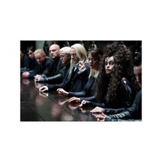 Harry Potter and the Deathly Hallows - new pics!! Draco, Lucius,... ❤ liked on Polyvore featuring harry potter