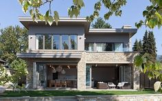 Shore-Side Re-Treat: House constructed with French Oak is modern & rustic with nautical touches