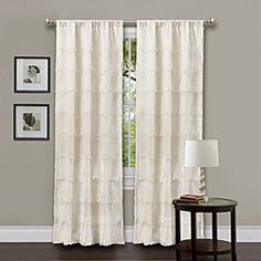 Decorate your home with this gorgeous window panel with faux silk construction. Rod pocket slides onto curtain rod for easy installation.