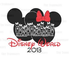 Mickey and Minnie Inspired Disney World Family Vacation  - DISNEY PRINTABLES - Perfect for family T-shirt iron on - Digital file on Etsy, $9.00