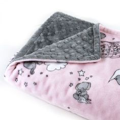 Handcrafted Personalized Pink Gray Elephant Minky Baby Lovey Blanket This soft cute baby minky blanket is made of 2 diff. How To Sew Baby Blanket, Baby Clothes Blanket, Baby Blanket Size, Lovey Blanket, Minky Baby Blanket, Baby Girl Blankets, New Baby Girls, Baby Girl Gifts, Baby Boys