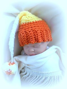 Candy Corn Elf Baby Crochet Hat inspiration