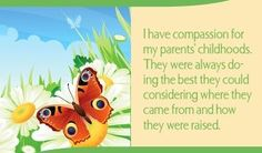 I have compassion for my parents' childhoods. They were always doing the best they could considering where they came from and how they were raised.~ Louise L. Hay