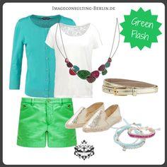 "Frühling/Sommer 2016 Trendfarbe ""Green Flash"" : Outfit für den Frühlingstypen, einen blonden Sommer oder ""light"""