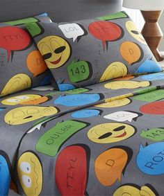 Love this Emoji Speech Bubbles Sheet Set on #zulily! #zulilyfinds