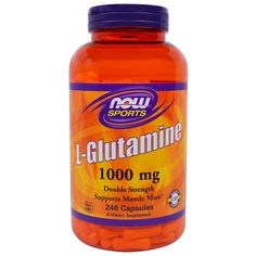 sports-fitness-athletic: Now Foods, Sports, L-Glutamine, 1000 mg, 240 Capsu...