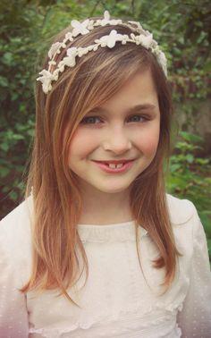 #little #Cherubina #Corona #flores #pistilos #damitas #comunion #wedding #girls