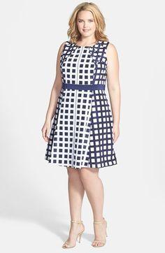 Jessica Simpson Sleeveless Fit & Flare Dress (Plus Size) | Nordstrom #plus #plussize #fashion