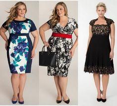 Trendy plus size short dresses 2014 Look Plus Size, Trendy Plus Size, Plus Size Women, Big Fashion, Curvy Fashion, Plus Size Fashion, Fashion Design, Plus Size Short Dresses, Plus Size Outfits