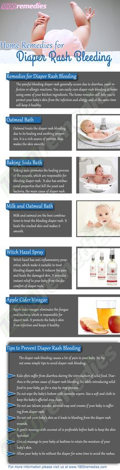 Bleeding diaper rash remedies