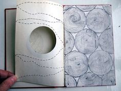 stitching on paper is so delicate by Cecilia Levy: relie certaines choses, est leitmotiv Sketch Journal, Artist Journal, Art Journal Pages, Art Journals, Sketchbook Inspiration, Art Sketchbook, Paper Book, Paper Art, Altered Books