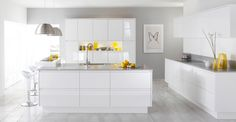 gloss handless kitchen