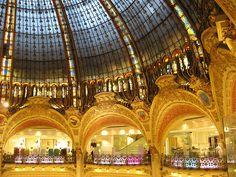 Luxury, and fashion Pattern Design, Lafayette Paris, Louvre, Luxury, Ceilings, City, Paris France, Places, Travel