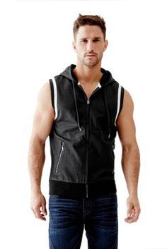 Landen Hooded Vest | GUESS.com