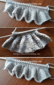 Scalloped Knitting Edge Stitch - How Did You Make This? Knitting Stiches, Sweater Knitting Patterns, Lace Knitting, Knitting Designs, Crochet Yarn, Knit Patterns, Diy Embroidery Patterns, Knitting Dolls Clothes, Knit Edge