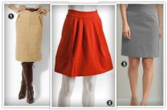 Best skirts for pear shaped bodies