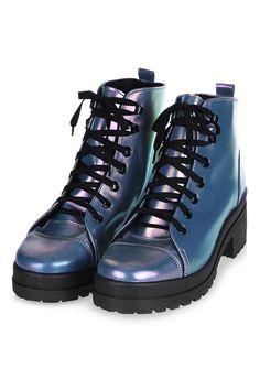 KOOL Flat Lace Boot - Topshop