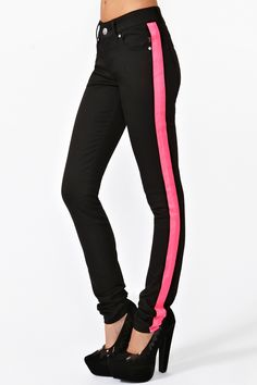 Neon Streak Skinny Jeans