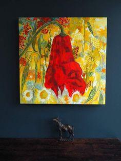 Eadaoin Harding Kemp for Kilbaha Gallery Buy Irish Art Online Bright Paintings, Irish Art, Crepe Paper, Shades Of Red, Art Online, Red Flowers, Fascinator, Poppies, Contemporary Art