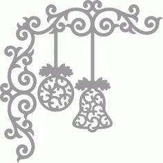 Silhouette Design Store: christmas ornaments corner Design ID #69276
